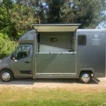 Dark Grey Horsebox with Half Door Open