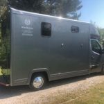 Dark Grey Horsebox on Path