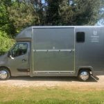 Dark Grey Horsebox Side Door Closed