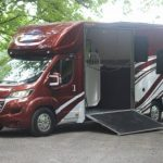 Red and White Large Horsebox Side Open