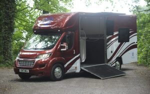 Red and White Horsebox