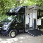 Black Horsebox with Sides Open Small
