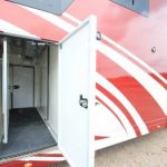 Side Storage on Red Horsebox