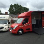 White and Red Horseboxes