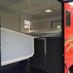 Red Horsebox with Side Open