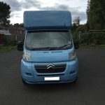 Light Blue Horsebox Front View