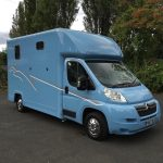 Light Blue Horsebox Three Quarter View