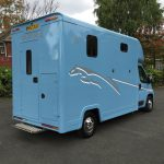 Light Blue Horsebox Rear View