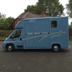 Light Blue Horsebox Side View
