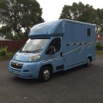 Light Blue Horsebox with Grey Graphics