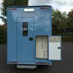 Light Blue Horsebox Storage Door