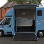 Light Blue Horsebox Side Open