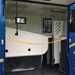 Blue Horsebox Inside
