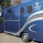 Blue Horsebox with Graphics