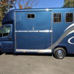 Blue Horsebox Side View