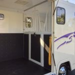Horsebox Purple Graphics with Stalls