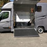 Dark Grey Horsebox with Black Graphics