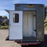 Grey Horsebox with Rear Door Open