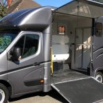 Dark Grey Horsebox Doors Open