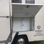 Cream Horsebox Storage Open