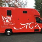 Red Horsebox Side View