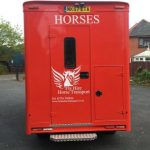 Red Horsebox from Rear