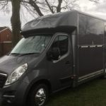 Dark Grey Horsebox Outside