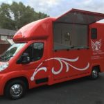 Red Horsebox with Doors Open Small