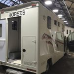 White Horsebox Rear Door Open