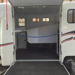 White Horsebox Side Open with Rope