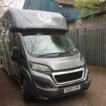 Grey and Silver Horsebox Front View