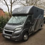 Dark Grey Horsebox with Silver Graphics