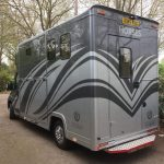 Dark Grey and Silver Horsebox