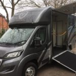 Dark Grey Horsebox Side Open Small