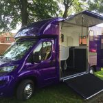 Purple Horsebox from Side