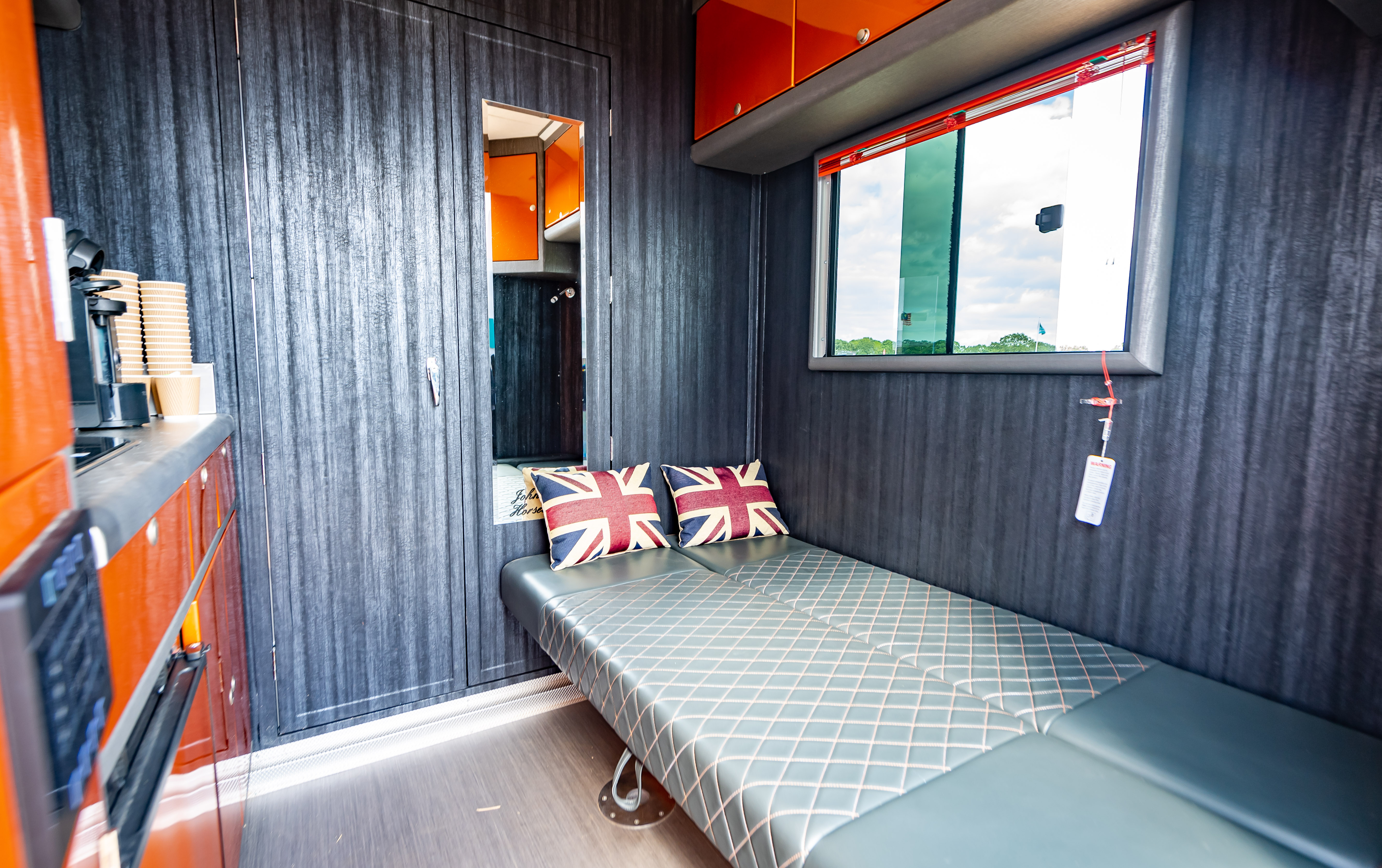 Orange Interior in Horsebox