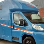 Blue and Orange Horsebox
