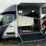 Horsebox with Side Door and Storage Open
