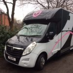 Horsebox with Pink Graphics