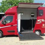 Red Horsebox with Door Open